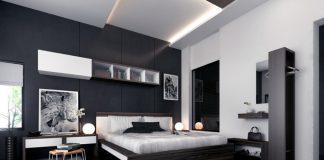 Kamar Tidur Sederhana Dengan Konsep Monokrom
