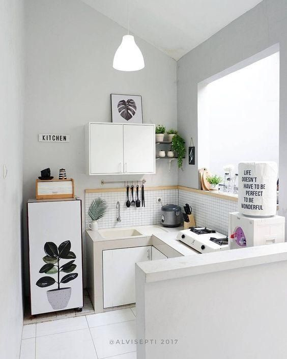 pengaturan cahaya pada dapur minimalis