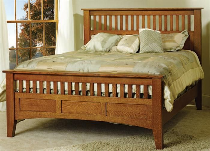 tempat tidur kayu